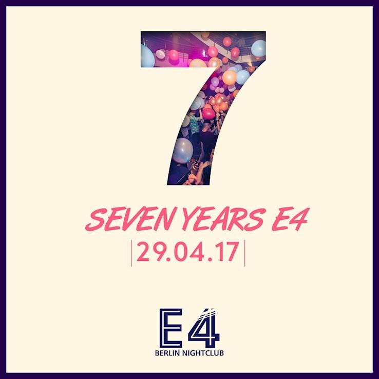 E4 29.04.2017 7 Jahre E4 Club Berlin