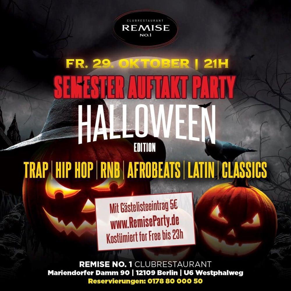 Remise No.1 Berlin Semester Auftakt Party | Halloween Edition