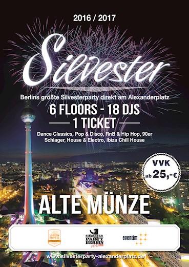 Alte Münze Berlin Eventflyer #1 vom 31.12.2016