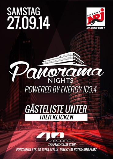 40seconds 27.09.2014 Panorama Nights powered by 103,4 ENERGY !