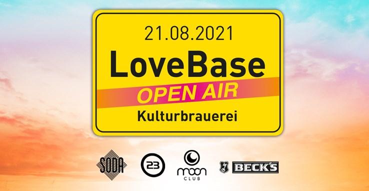 Kulturbrauerei 21.08.2021 LoveBase Open Air - limited edition