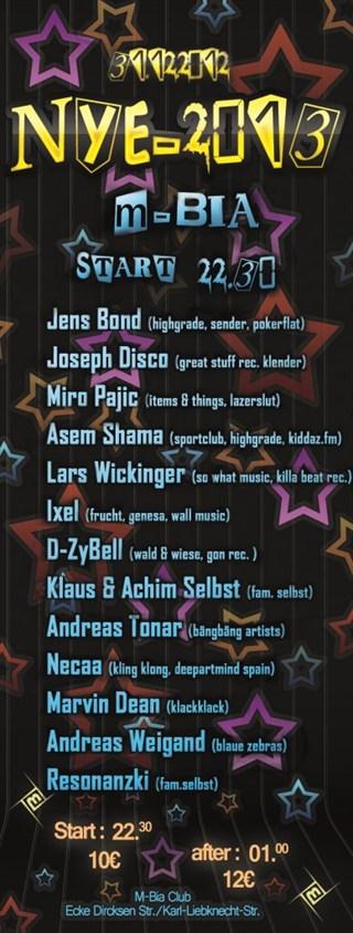 M-Bia Berlin Eventflyer #1 vom 31.12.2012