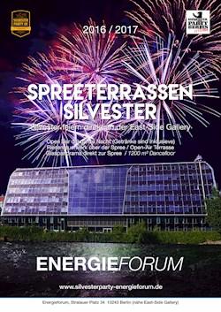 Energieforum Berlin Silvester Spreeterrassen 2016 / 2017 im Atrium des Energieforums
