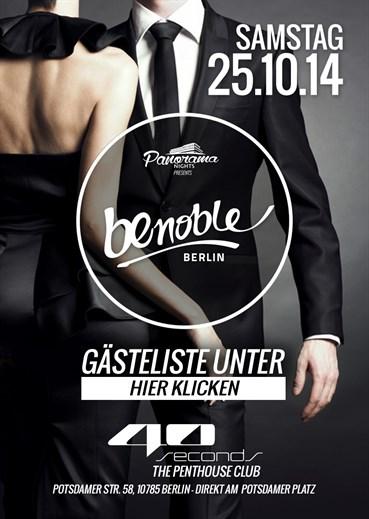 40seconds 25.10.2014 Be Noble - Das Event der Extraklasse!