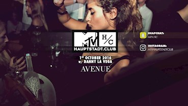 AVENUE 01.10.2016 Avenue pres. MTV Hauptstadt Club w/ Danny La Vega