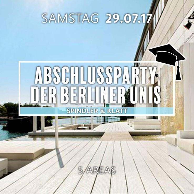Spindler & Klatt 29.07.2017 Abschlussparty der Berliner Unis an der Spree