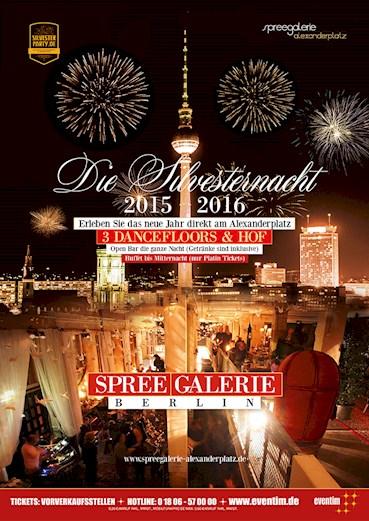 Spreegalerie Berlin Eventflyer #1 vom 31.12.2015