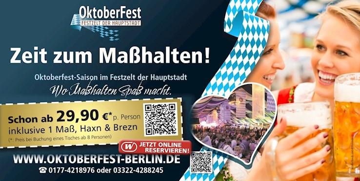 Festzelt der Hauptstadt - Spandau Berlin Eventflyer #1 vom 19.10.2019