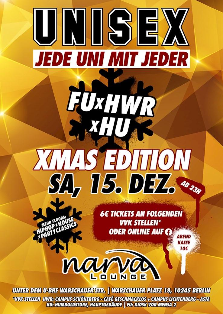 Narva Lounge 15.12.2018 UniSex – Jede Uni mit Jeder - X-Mas Edition