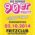Fritzclub Berlin Die große 90er Party