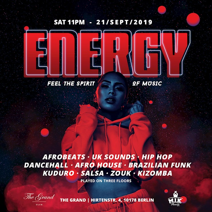 Grand 21.09.2019 Energy – Feel the Spirit of Music - Grand Opening