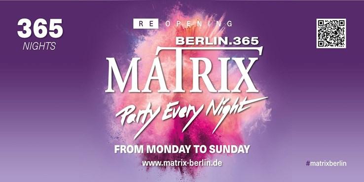 Matrix Berlin Eventflyer #1 vom 13.10.2021