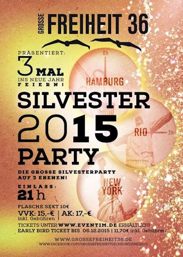Große Freiheit 36 Hamburg Eventflyer #1 vom 31.12.2015