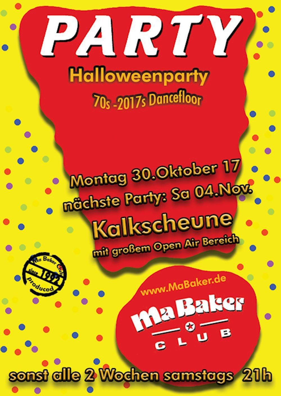Kalkscheune Berlin Ma Baker Party - Halloweenparty