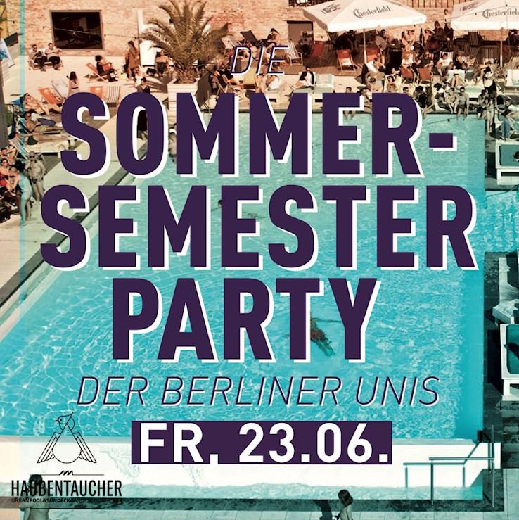 Haubentaucher 23.06.2017 Die Sommersemester Party der Berliner Unis