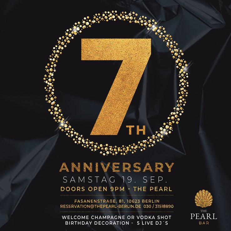 The Pearl 19.09.2020 7 Years Anniversary
