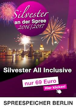 Spreespeicher Berlin Silvester an der Spree 2016/2017 im Spreespeicher Berlin