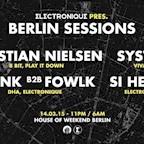 Club Weekend Berlin Weekend Memories pres. Electronique