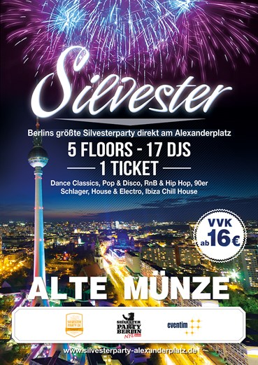 Alte Münze Berlin Eventflyer #1 vom 31.12.2014