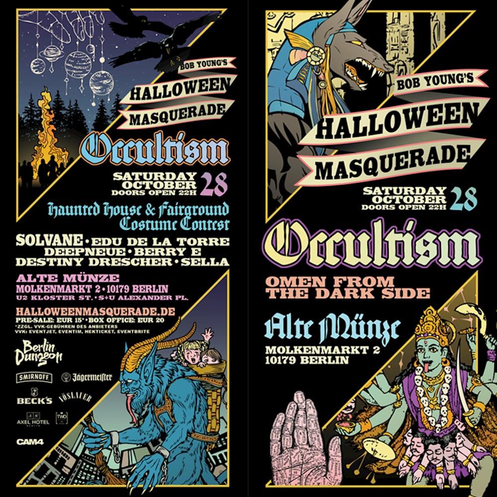 Alte Münze Berlin Bob Youngs Halloween Masquerade 2017 Occultism