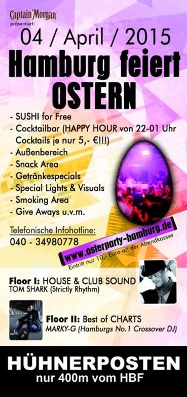 Hühnerposten Hamburg Eventflyer #1 vom 04.04.2015