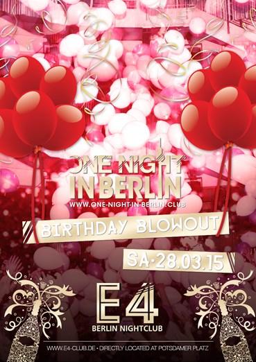 E4 Club 28.03.2015 One Night in Berlin - The Big Birthday Blowout