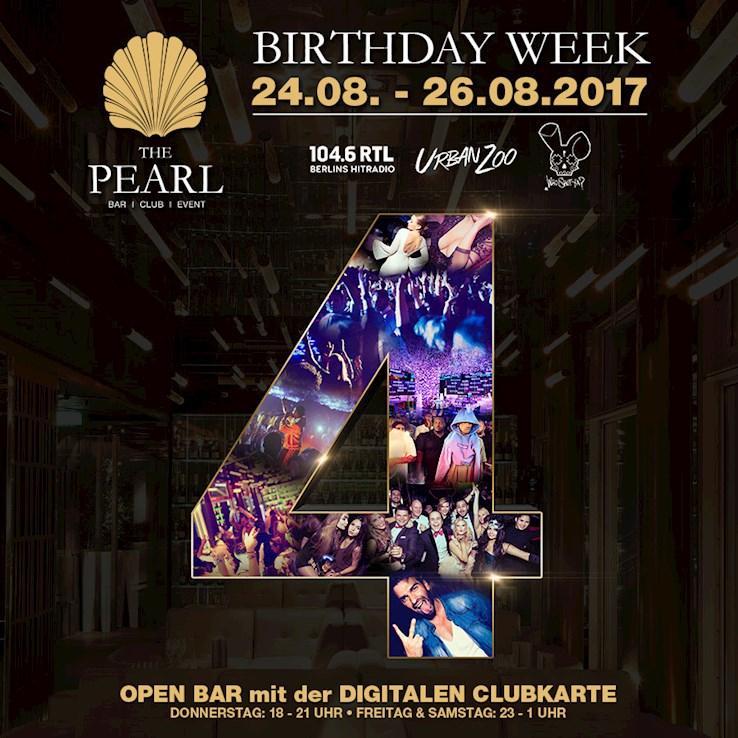 The Pearl 25.08.2017 Birthday Week | Urban Zoo - nur Freitags Berlins wildest Hip Hop