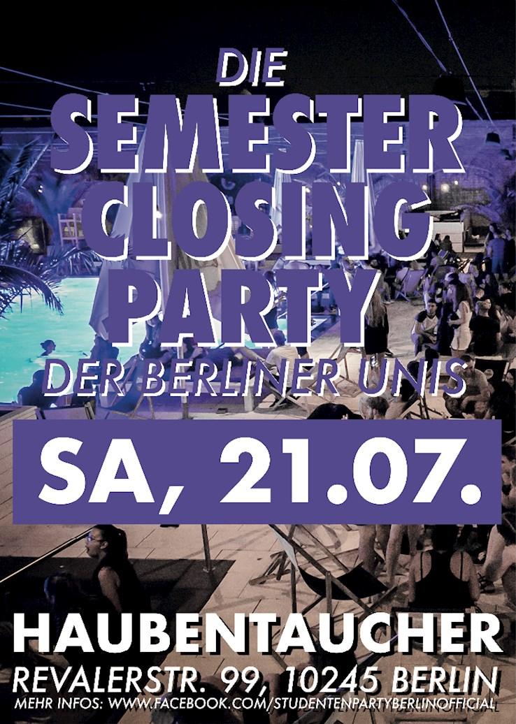 Haubentaucher 21.07.2018 Die Semester Closing Party der Berliner Unis