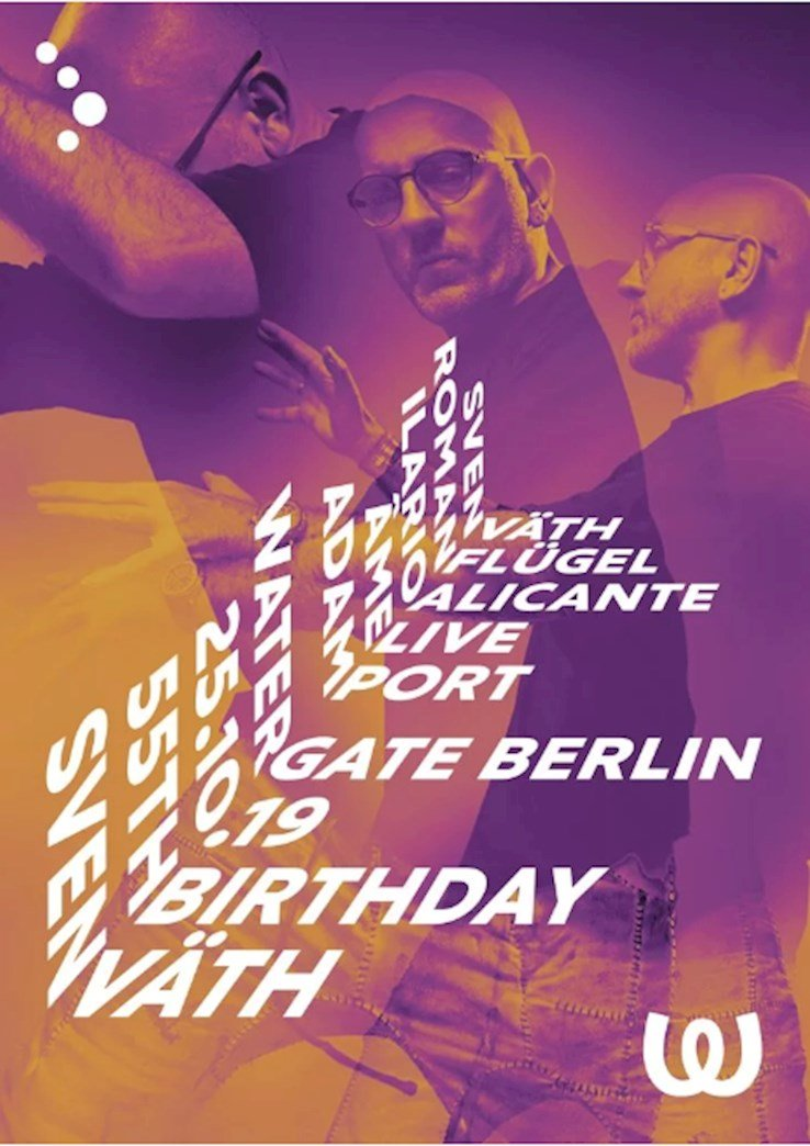 Watergate 25.10.2019 Sven Väth 55th Birthday Part 1 with Adam Port, Âme, Ilario Alicante, Roman Flügel