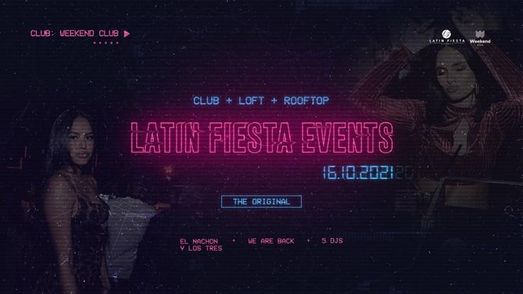 Club Weekend 16.10.2021 Latin Fiesta Original: We are back! (Club + Rooftop)