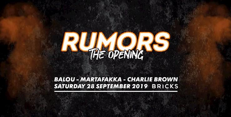 Bricks 28.09.2019 Rumors - The Opening