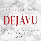 Avenue Berlin Déjàvu - Grand Opening - Tanz in den Mai