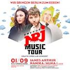 Kulturbrauerei Berlin Die ENERGY Music Tour 2018 mit James Arthur, Alma, Namika & mehr