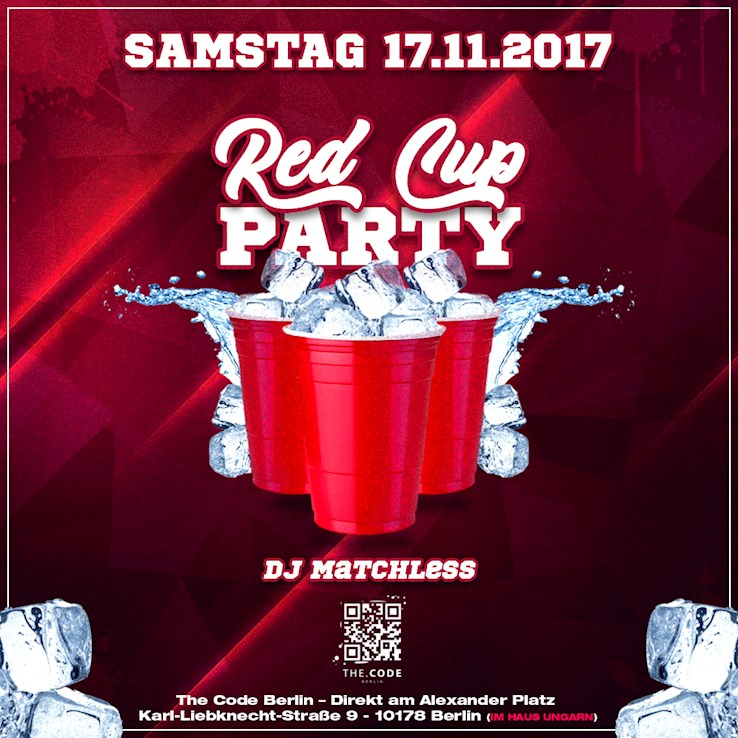 The Code 17.11.2018 The Red Cup Party !