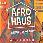 Gretchen Berlin Afro Haus Vol. 27 X Afrobeats X Hip Hop X Dancehall