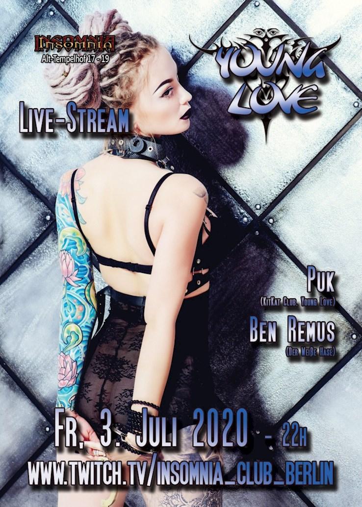 Insomnia Erotic Nightclub 03.07.2020 Young Love - Live Stream & Zuschauerplätze