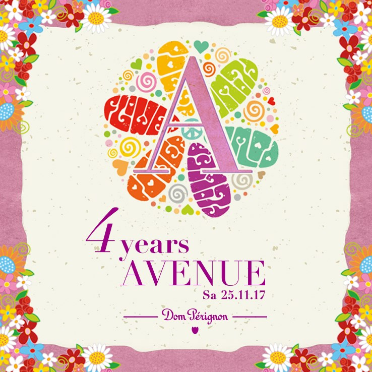 Avenue 25.11.2017 4 Years Avenue - The Flower Power Edition