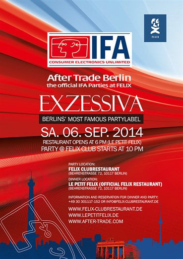 Felix Club 06.09.2014 Exzessiva the Official IFA Party