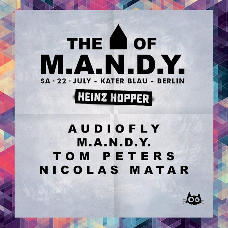 Kater Blau 22.07.2017 Sasomo - House of M.a.n.d.y / Audiofly / Ardalan / Sacha Robotti / Kevin Knapp