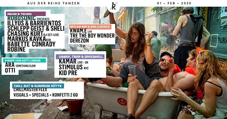Ritter Butzke 01.02.2020 Aus der Reihe Tanzen │ House x Techno x Hip Hop on 5 Floors