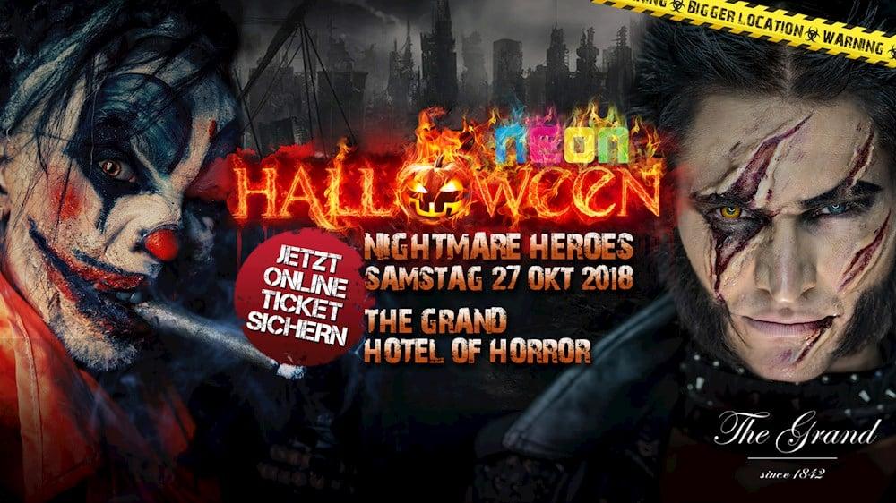 Grand Berlin Halloween Party Berlin 2018 Pres. Nightmare Heroes At The Grand Hotel Of Horror