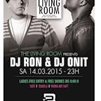 2BE Berlin The Living Room Presents Dj Ron & Dj Onit