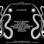 Suicide Club Berlin Magnetism Open Air w/Paula Koski, D-Leria, CONCEPTUAL, Hekum b2b Nemrac, Quelza,