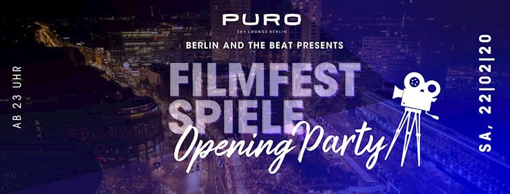 Puro 22.02.2020 Berlin And The Beat presents Filmfestspiele Opening Party