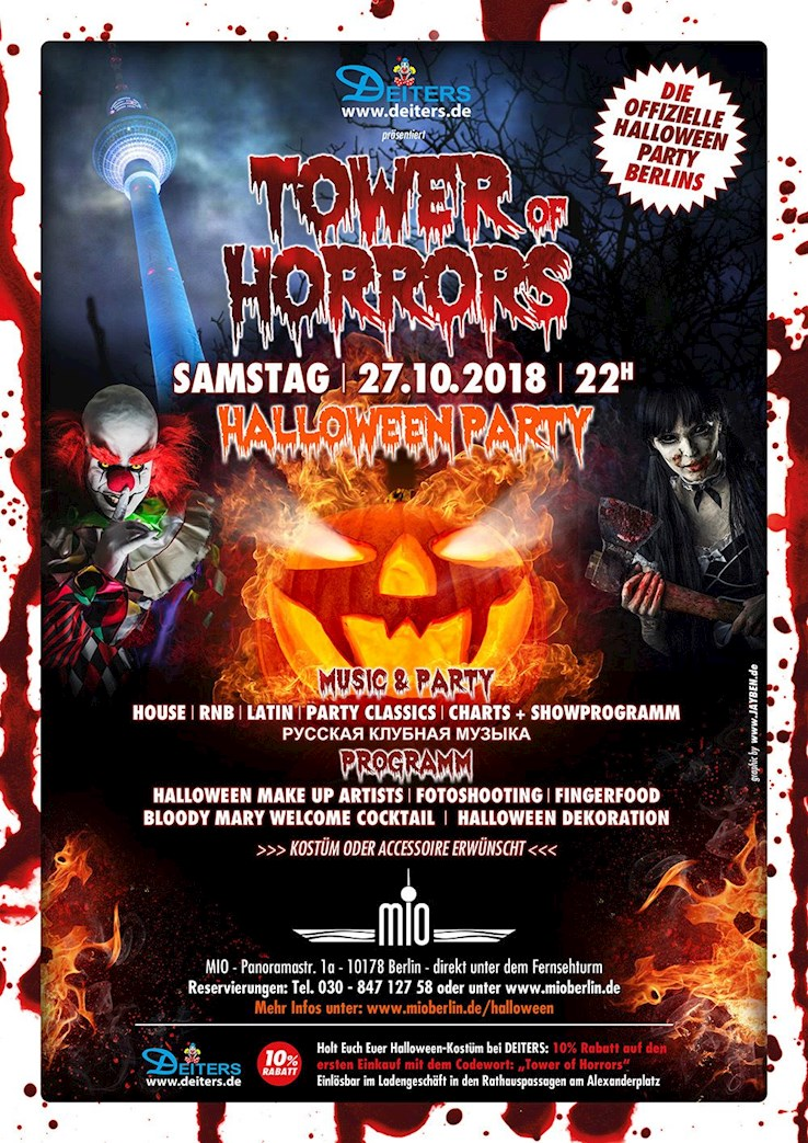 Mio 27.10.2018 8. Tower of Horrors - Die Offizielle Halloween Party