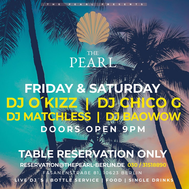 The Pearl Berlin Eventflyer #1 vom 07.08.2021