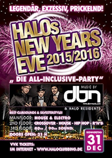 Halo Hamburg Eventflyer #1 vom 05.11.2015