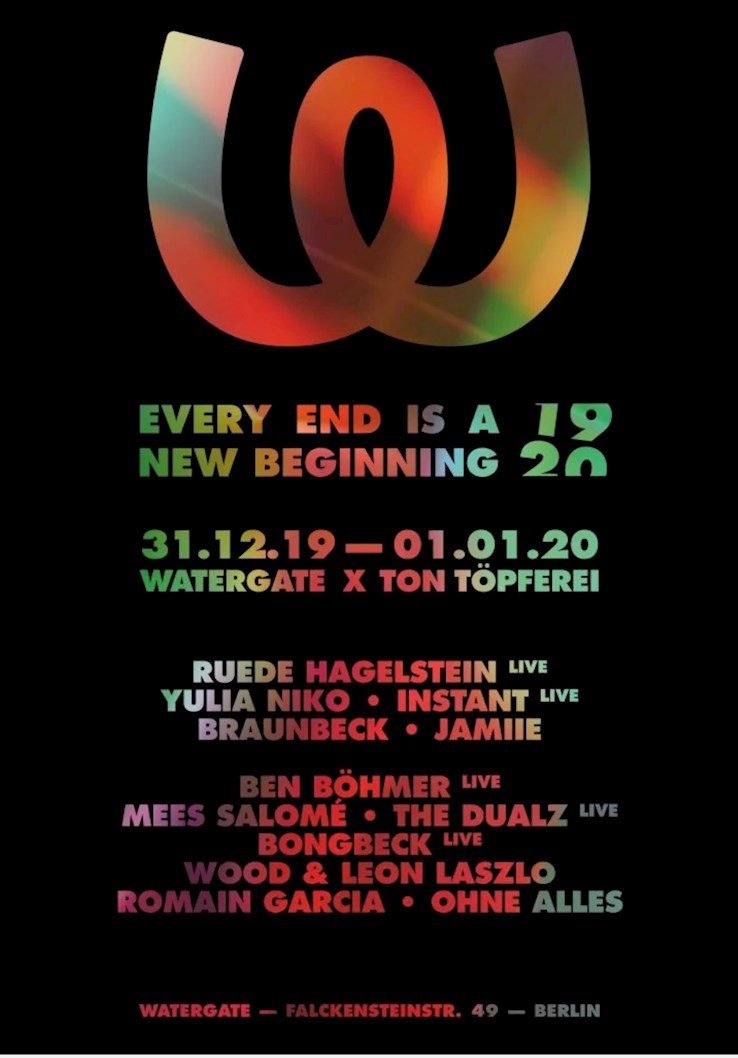 Watergate Berlin Eventflyer #1 vom 31.12.2019