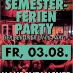 Haubentaucher Berlin Die Semesterferien Party der Berliner Unis Part I
