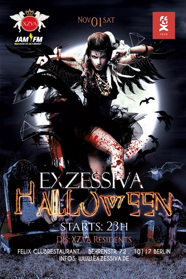 Felix Club 01.11.2014 Exzessivas Halloween Night! powered by 93,6 JAM FM